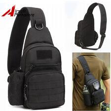 900D Molle Tactical Utility Shoulder Sling Bag Pouch Backpack w/Bottle Pouch BK