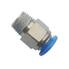Pneumatic Push In Air Fitting Straight Male Connector 4mm OD*1/8