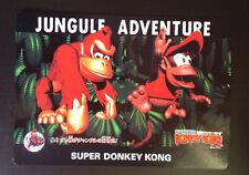 Nintendo Super Donkey Kong Promo Tarjeta De Gran Tamaño