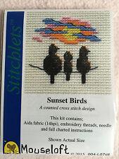 Mouseloft stitchlets Cross Stitch Kit ~ ~ oiseaux coucher de soleil nouveau