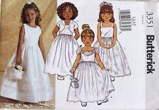 DRESS * BOLERO Wedding Fancy Butterick Pattern 3351 NEW Size Child/Girls 2-3-4-5