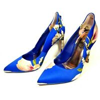 Ted Baker London Hallden EUR 35.5 US 5 Heels Shoes Blue Harmony Floral Evening