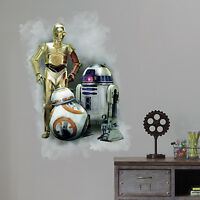 C3P0 R2D2 BB-8 GiaNT WALL DECALS NeW Star Wars The Force Awakens Stickers Decor