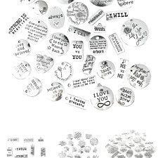 Inspiration Words Charms, Jialeey Wholesale Bulk Lots Motivational Message Ch.