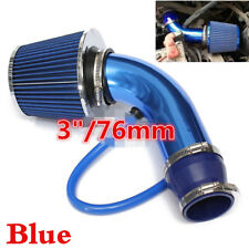 "3"" Car Engine Intake Pipe +Inlet Air Filter High Flow High Cold Air Cone+Clamps"