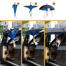 Parapluie Inversé IDEAL, anse en  C mains libre, bleu TOP DESIGN...