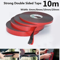 10M Black Super Strong Double Sided Foam Tape Permanent Self Adhesive Tri BOR