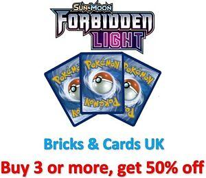 Pokemon TCG Forbidden Light - Reverse Holo Rare / Uncommon / Common Cards