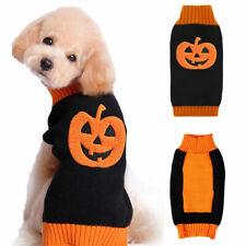 Halloween Autumn Winter Pumpkin Knit Jumper Warm Pet Dog Cat Sweater Coat Outfit