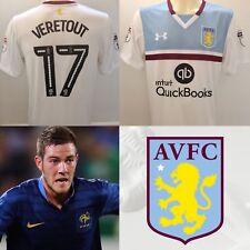 Jordan Veretout MATCH ISSUED WORN 2016/17 Aston Villa Away Shirt FIORENTINA
