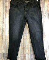 American Eagle Women's Skinny Jeans Black SZ 18 L 'Super Stretch' x4 High Rise