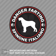 Danger Farting Spinone Italiano Sticker Decal Vinyl dog canine pet