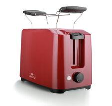LENTZ 2-Scheiben Toaster Toastautomat Brötchenaufsatz 700W Abbruchfunktion ROT
