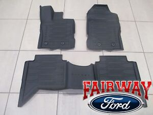 2019 Ranger OEM Ford Tray Style Molded Rubber Floor Mat Set 4-pc CREW CAB