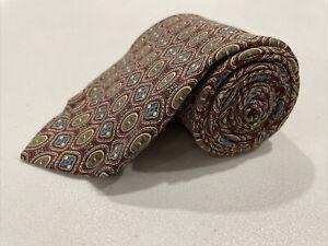 Brooks Brothers Men's Red Geometric Silk Tie $89