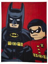 LEGO DC KAPOW SUPERHERO BATMAN ROBIN BOYS POLAR FLEECE BLANKET THROW 100x150