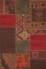Tapis rouge rectangulaires pour la maison, 120 cm x 170 cm