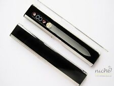 PATENTED GLASS NAIL FILE with SWAROVSKI JEWELS and DISPLAY GIFT CASE - VARIOUS