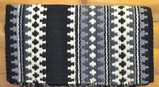 Mayatex Wool Show Saddle Blanket Pad 34x40 Black White Silver Grey White THICK