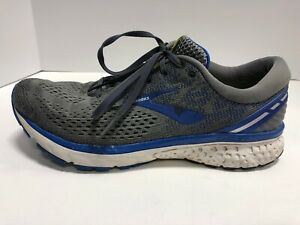 Brooks Ghost 11 Men's Size 12 Narrow Grey/Blue/White Athletic Shoes, Running