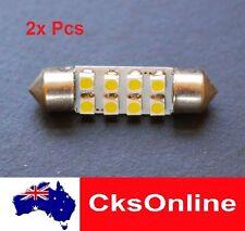 2x HIGH POWER 36mm FESTOON 8 1210 SMD LED INTERIOR DOME LIGHT WHITE DC12V