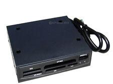 """USB 2.0 lector de tarjeta de memoria interna Multimedia Negro Encaja 3.5"""" Bahía de unidad de disquete"""