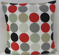 CUSHION COVERS SPOTTED RETRO RED SPOTS BEIGE GREY BLACK  60'S DESIGN SINGLE