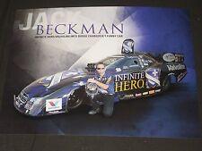"2014 ""FAST"" JACK BECKMAN INFINITE HERO / VALVOLINE FUNNY CAR NHRA POSTCARD"
