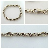 Schönes Silberarmband 925er Silber Silberarmband 19 cm Doppelankerkette Armband