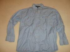 George Strait Wrangler Cowboy Cut Collection Button Up Shirt Blue Gingham Size L