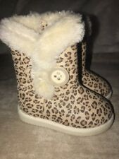 Cherokee Animal Print Winter Warm Faux Fur Lined Boots Toddler Girl Sz 5 NWT