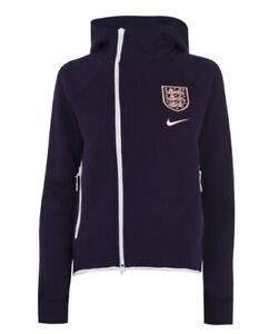 Nike England Women Sport Fleece Jacket Purple White Size XL New With Label