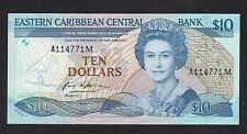 Eastern Caribbean 10 Dollars (ND1985-93) P23m Montserrat State banknotes - UNC