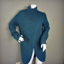 Great Northwest Indigo Womens Teal Long Sleeve Turtleneck Sweater Small