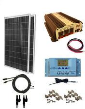 COMPLETE KIT 200W Watt 200W Solar Panel + 1500W Inverter 12V RV Boat Off Grid