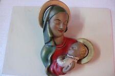 Rara Arte Decorazione Maschera da Parete Madonna Mit Kind Gmundner Ceramica