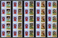 HAWTHORN SET OF 5 150th FOOTBALL STRIPS OF 10 MINT VIGNETTE STAMPS