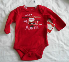 I have Auntie, Newborn, one piece, snap closure, baby romper, Christmas