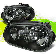 FOR 99-06 VW GOLF/CABRIO MK4 BLACK CLEAR LENS OE REPLACEMENT HOUSING HEADLIGHT