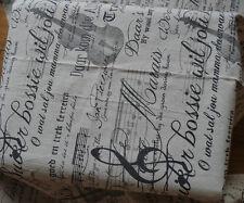 Vintage Violin Linen Fabric for tablecloth DIY Zakka Pillow Blind Apron 45x150cm