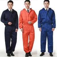 Workwear Coverall Overall Tuff Work Garage Uniform Boilersuit Hooded Jumpsuit*