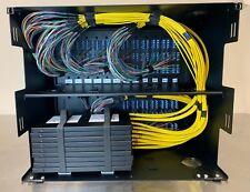 432 Fibers Port Lcupc Singlemode Ribbon 8Ru Fiber Optic Distribution Panel