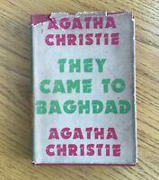 AGATHA CHRISTIE; They Came to Baghdad - 1954- Crime Fiction Novel - HB/DJ