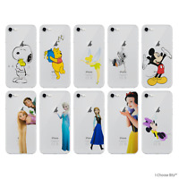 Disney Case/Cover for iPhone 4/4s/5/5s/5c/SE/6/6s/7/8/PLUS Silicone Cartoon Gel