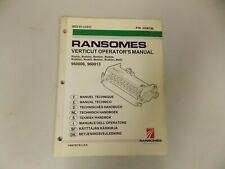 Parts Manual For Ransomes Fairway 250 Verticut Reels Multiple Languages