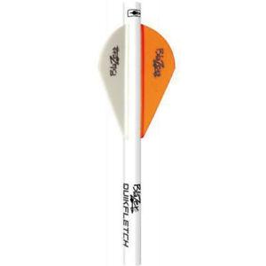 Bohning Blazer QuikFletch Shrink Quik True Fletch Orange White 6pk #20043 Arrow
