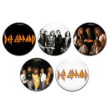 5x Def Leppard Band Heavy Rock Glam 25mm / 1 Inch D Pin Button Badges