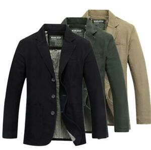 Men's Cotton Suit Jacket Tops Blazers suits coat outwear fashion casual Jacket