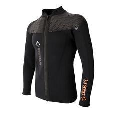 3mm Neoprene Mens Front Zip Wetsuit Jacket Long Sleeve Surfing Wetsuits Top