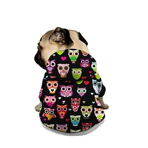 Animals Print Hoodie Sweater with Pocket Pet Dogs Coat Sweatshirt Warm Sweater